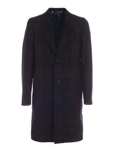 PS by Paul Smith - Cappotto monopetto verde scuro e nero