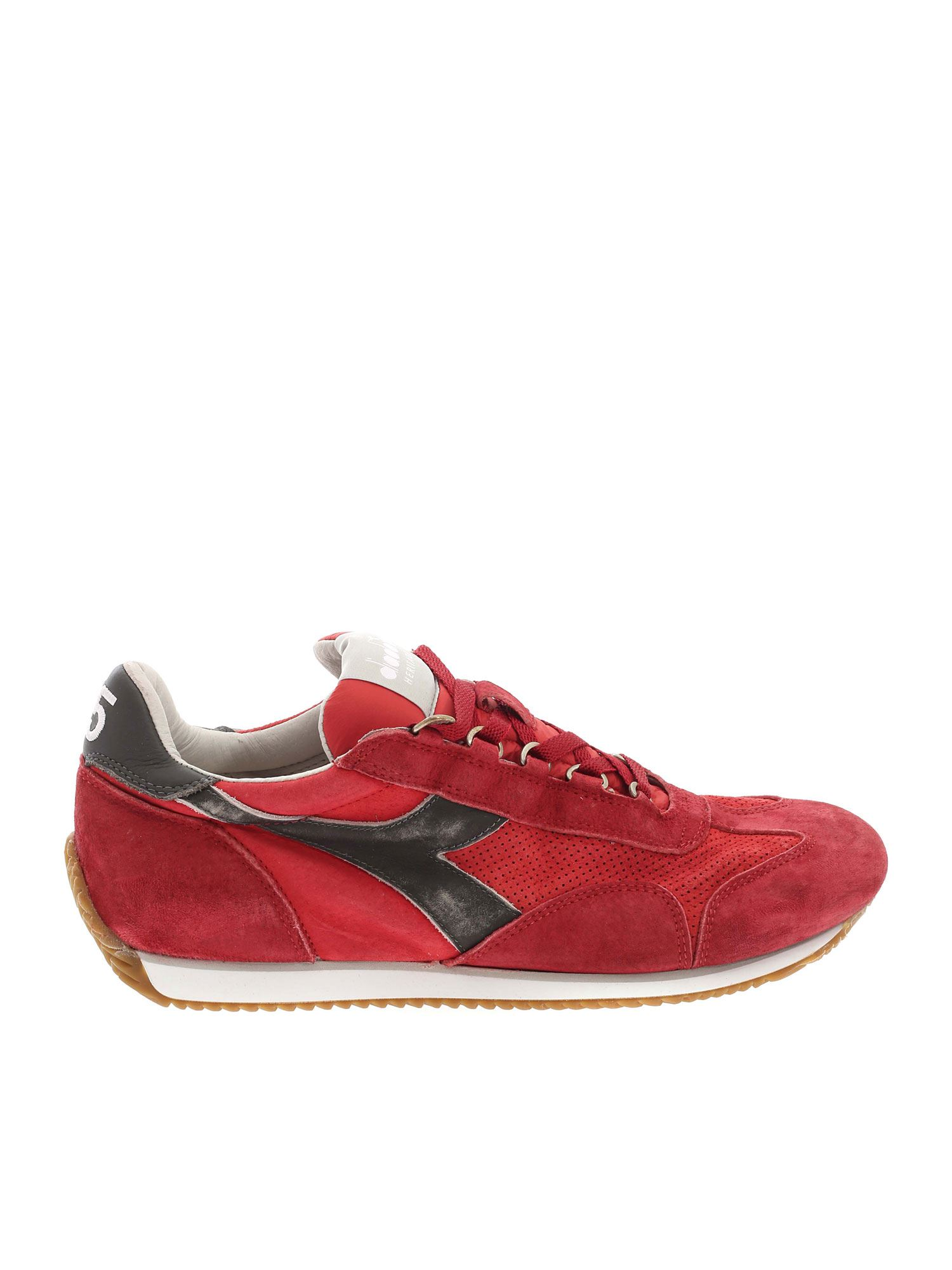 Diadora EQUIPE SUEDE SW SNEAKERS IN RED