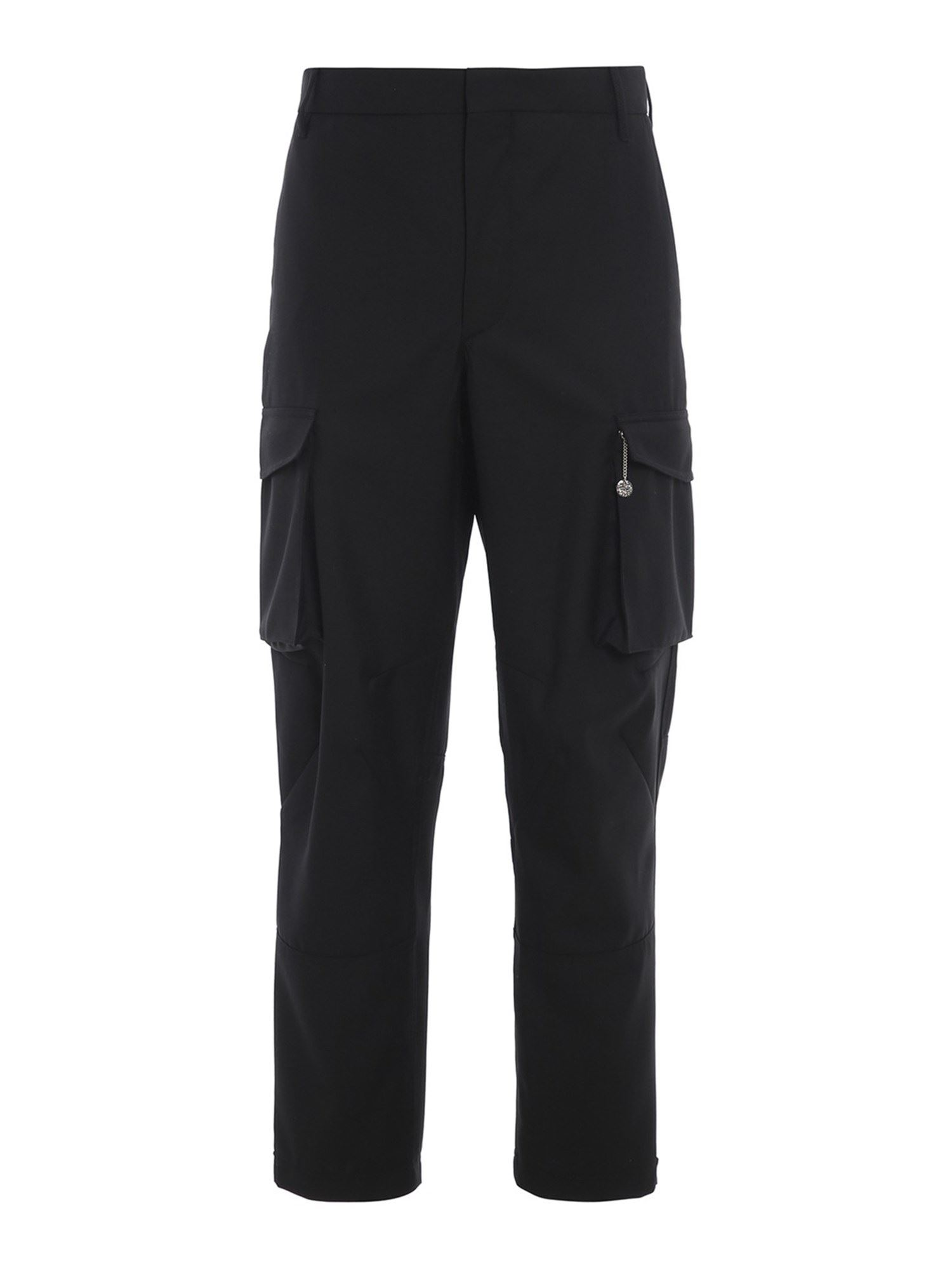 GIVENCHY WOOL TWILL TROUSERS IN BLACK