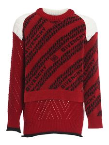 Givenchy - Chaîne pattern crewneck in red