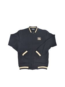 Dolce & Gabbana Jr - Sweatshirt with DG patch in blue