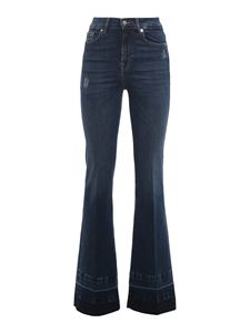 7 For All Mankind - Lisha Unrolled jeans in blue