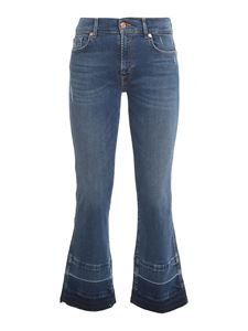 7 For All Mankind - The Ankle Flare jeans in blue