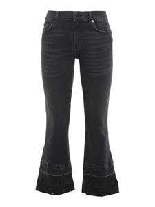7 For All Mankind - The Ankle Flare jeans in black
