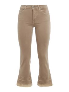7 For All Mankind - Cropped Boot Unrolled jeans in beige