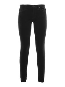 7 For All Mankind - Jeans The Skinny in velluto nero