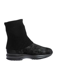 Hogan - Interactive ankle boots in black
