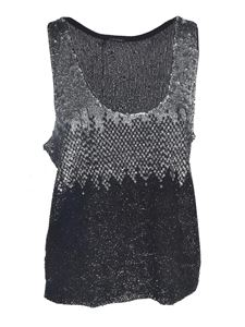 Pinko - Dinko top in silver and black