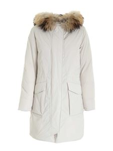 Woolrich - Military Parka down jacket in ivory color