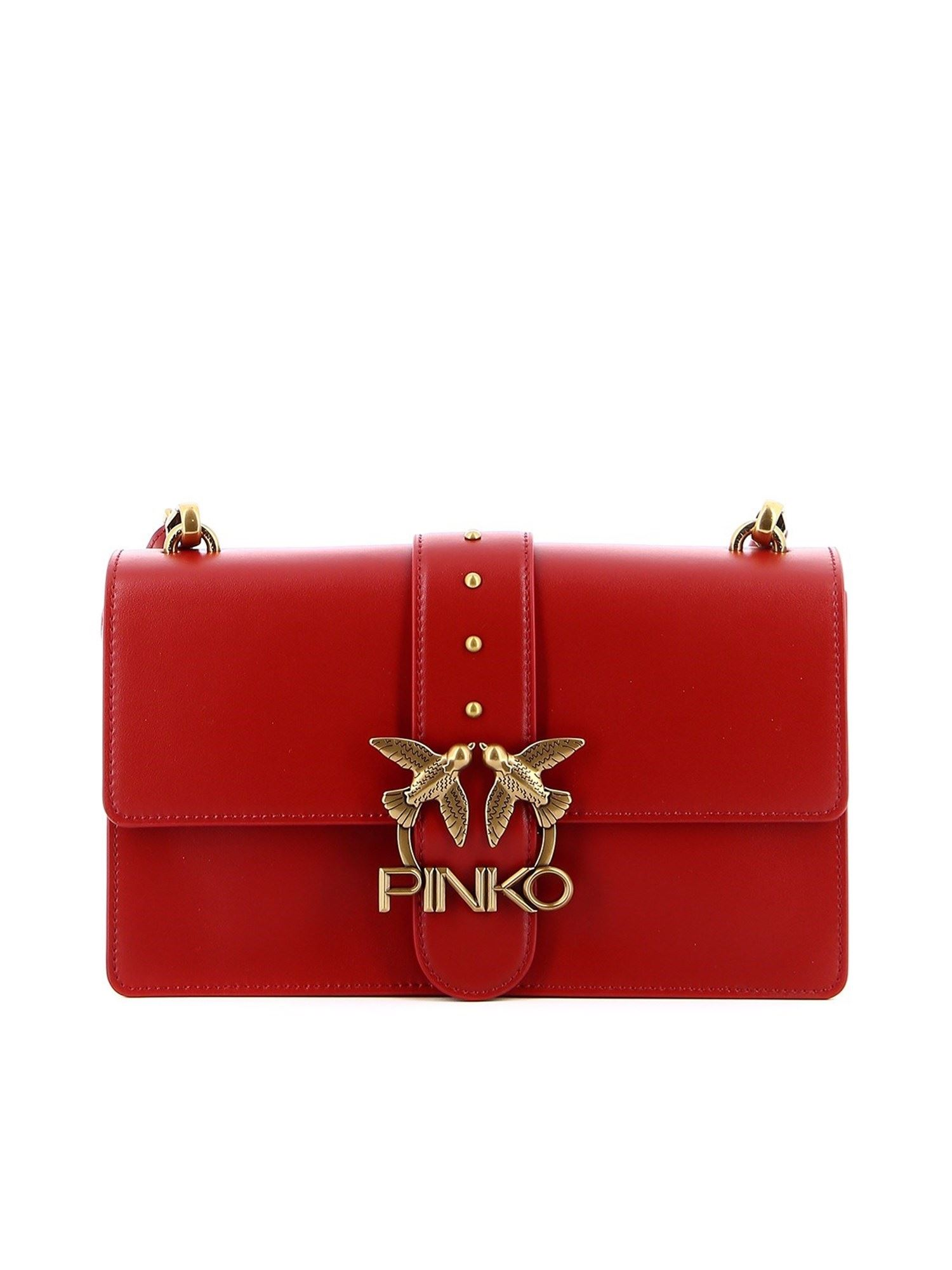 Pinko PINKO CLASSIC LOVE ICON SIMPLY BAG IN RED