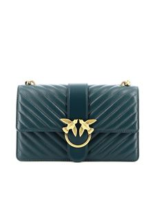 Pinko - Love Classic Icon V Quilt bag in green