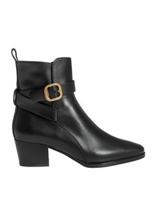 Tod's - Golden buckle ankle boots in black