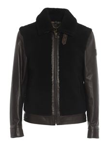 Belstaff - Giacca Grizzly in pelle marrone
