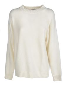 Laneus - Cashmere and silk pullover in ivory color