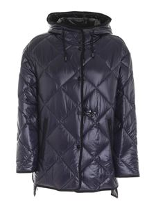 Fay - Quilted parka in blue