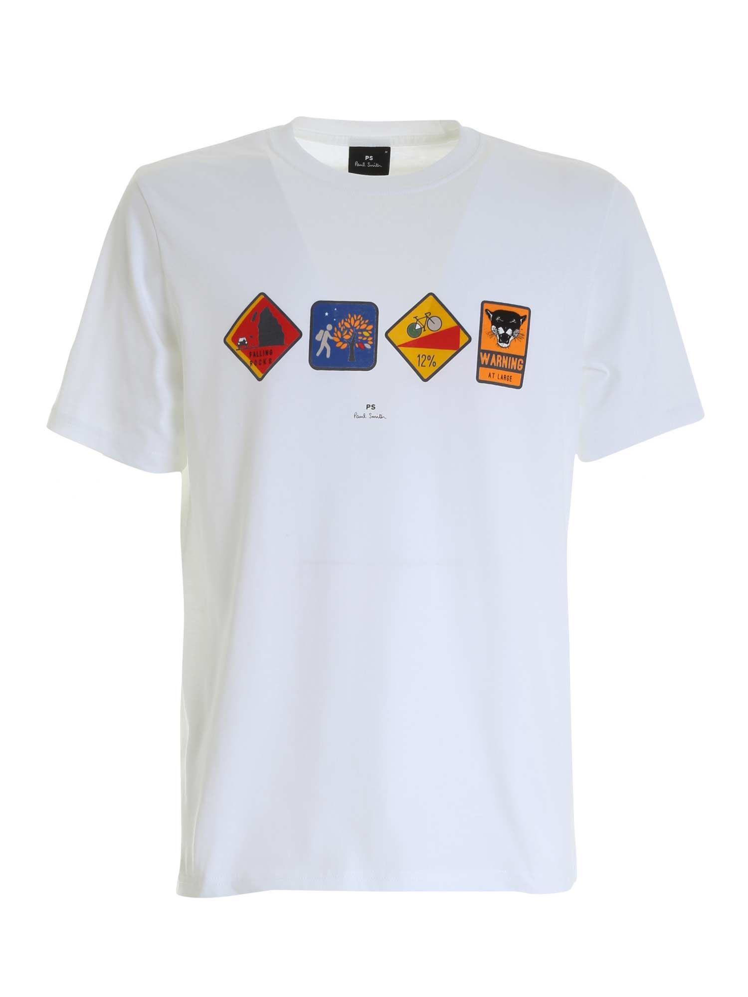 Ps By Paul Smith AVVERTIMENTO T-SHIRT IN WHITE