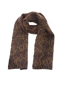 Saint Laurent - Animalier scarf in brown and black