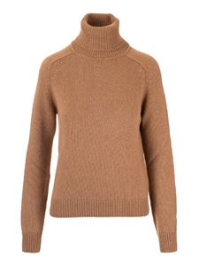 Saint Laurent - Pullover collo alto marrone