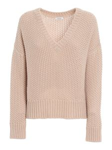 Parosh - Moss stitch sweater in beige