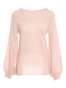Parosh - Boat neck jumper in pink