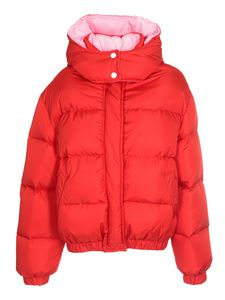 MSGM - Down jacket in red and pink