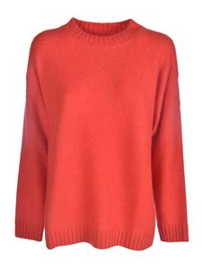 Laneus - Crewneck pullover in red