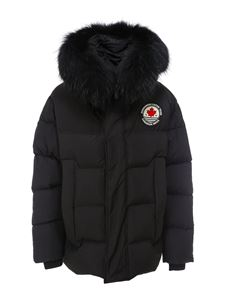 Dsquared2 - Hooded puffer jacket in black