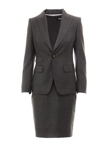 Dsquared2 - Blazer detailed wool dress in grey