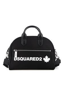 Dsquared2 - Logo print shoulder bag in black
