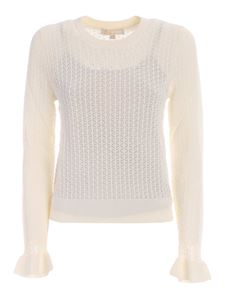 Michael Kors - Lace crewneck sweater in white