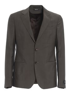 Z Zegna - Worsted wool blend suit in grey