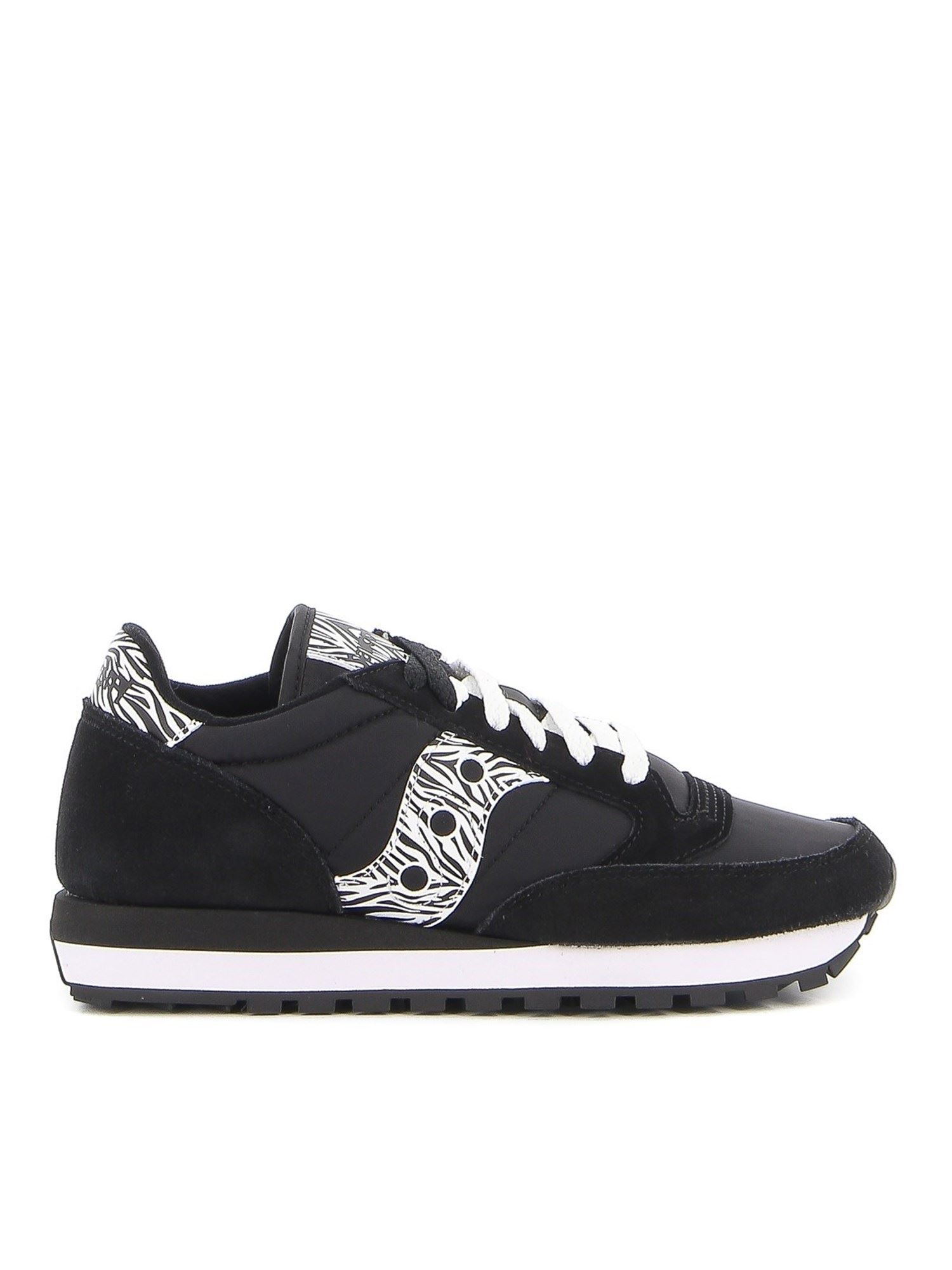Saucony JAZZ ORIGINAL ANIMALIER DETAILS SNEAKERS IN BLACK