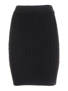 GCDS - Cable knit skirt in black
