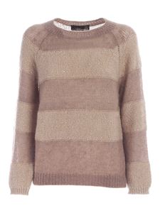 Les Copains - Striped sweater in beige and brown