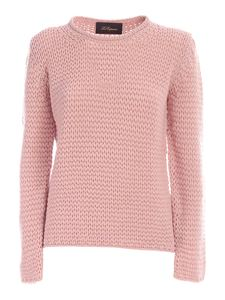 Les Copains - Pullover in cashmere rosa