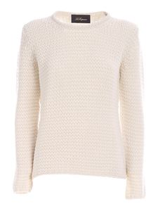 Les Copains - Pullover in cashmere bianco