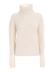 Les Copains - Dolcevita in cashmere bianco