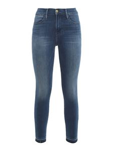 Frame - Le High Skinny Crop jeans in blue