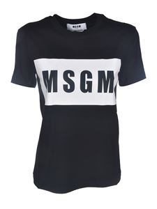 MSGM - Box Logo T-shirt in black