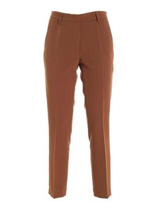 Paolo Fiorillo - Slash side pockets pants in brown