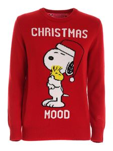 MC2 Saint Barth - Christmas Mood inlay pullover in red