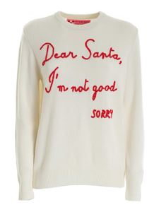 MC2 Saint Barth - Embroidery pullover in white