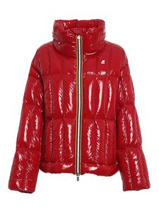 K-way - Josephine Thermo Shiny Quilted in red
