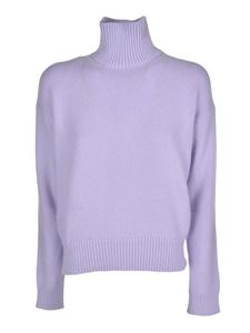 Laneus - High neck pullover in lilac