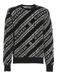 Givenchy - Chaîne pattern crewneck in black