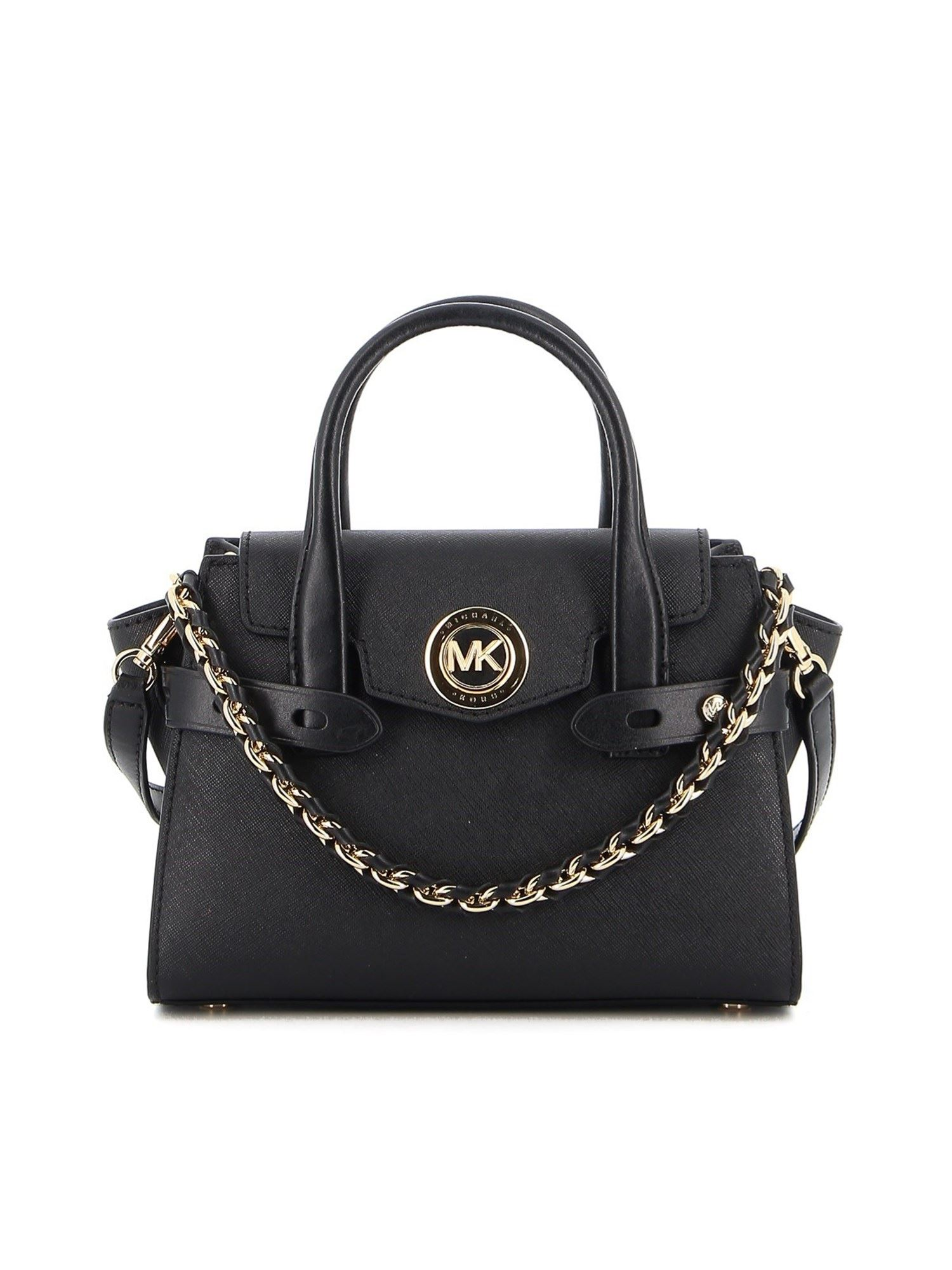 Michael Kors CARMEN EXTRA-SMALL LEATHER BAG IN BLACK