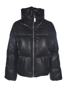 Michael Kors - Faux leather down jacket in black