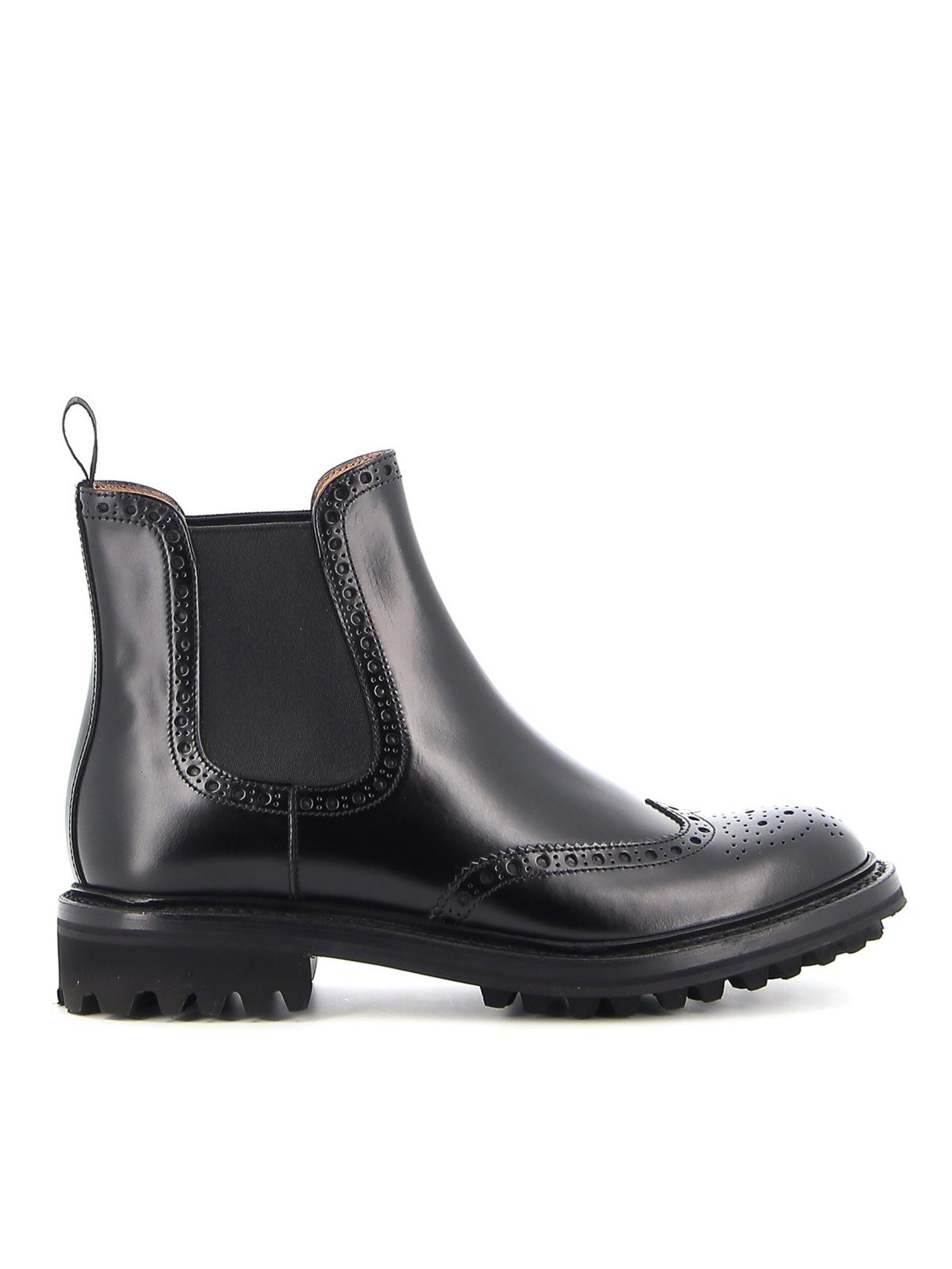 Church's AURA LEATHER CHELSEA BOOTS IN BLACK