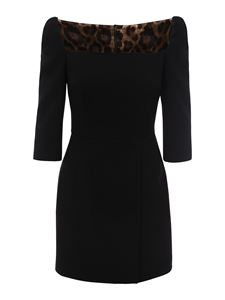 Dolce & Gabbana - Wool blend short dress in black