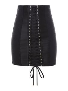 Dolce & Gabbana - Jacquard pencil skirt in black